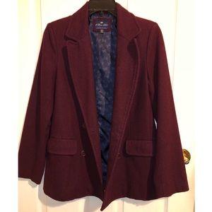 Lovely Burgundy Pea Coat!